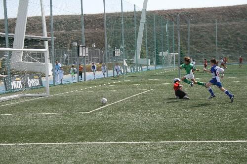 Primer gol del partido anotado por Alejandro