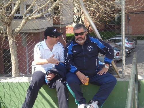 Manuel y Alejandro reunidos 2 horas antes para preparar el partido