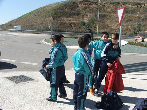 Todo el equipo haciendo piña en las instalaciones de Valdebebas.
