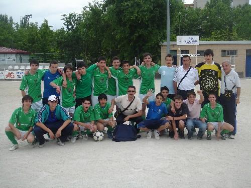 Foto de todos los jugadores Cadetes que jugaron este gran partido.