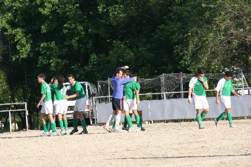 Todo el equipo celebrando el segundo gol del partido