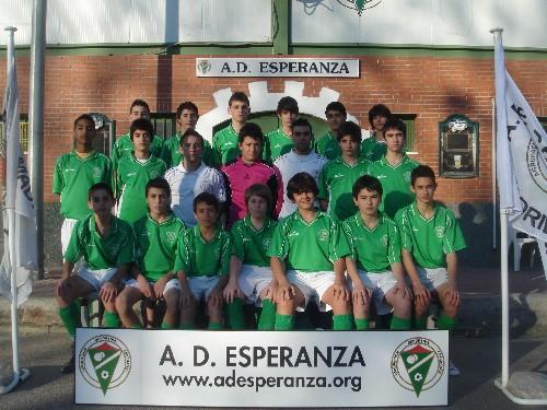 """Foto Oficial - Equipo Infantil """"A"""" - Temporada 2008-09"""