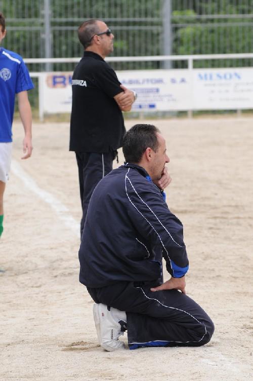 """Jesús entrenador del Aficionado """"B"""" y Javier su fiel escudero."""