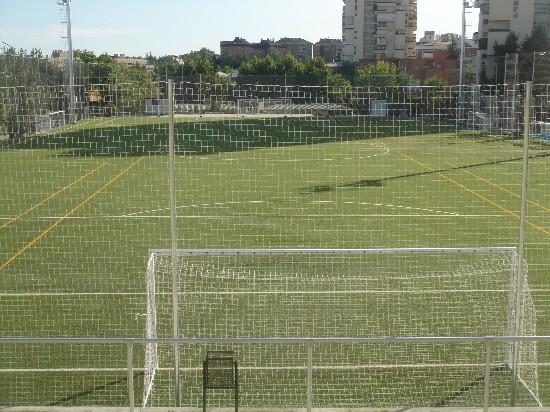 Foto tomada desde el fondo norte del campo de fútbol