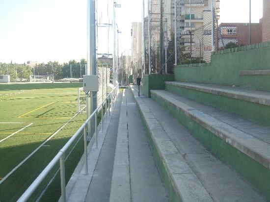 Foto de la grada de la C/ Andorra