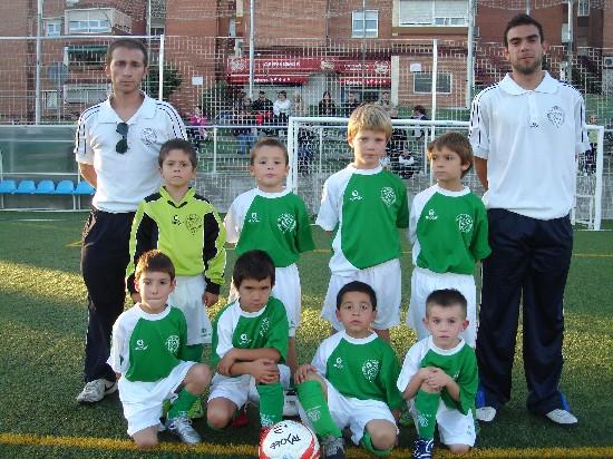 """Foto del equipo Prebenjamin """"A"""" de la A.D.Esperanza Temp. 2009/10"""