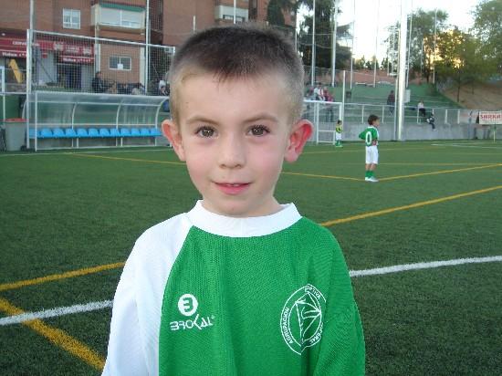 Sergio I , jugador del Prebenjamin de la A.D.Esperanza
