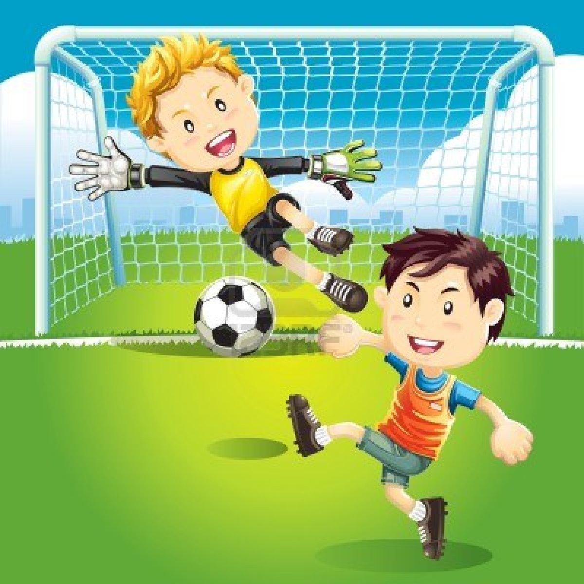 Los niños jugando futbol - Imagui