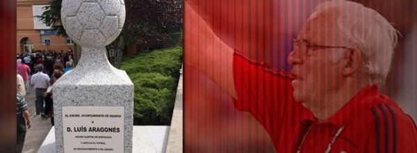 Un momolito recuerda a Luis Aragonés en Hortaleza