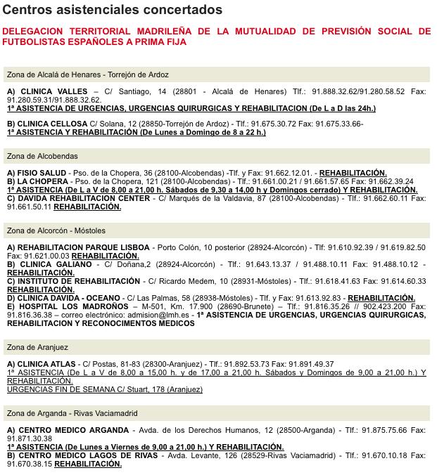 Mutualidad - Centros Asistenciales 2