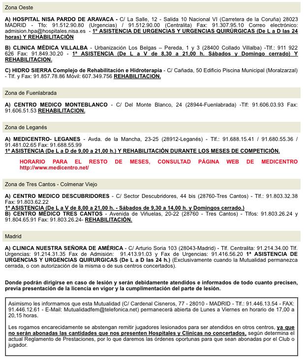 Mutualidad - Centros Asistenciales