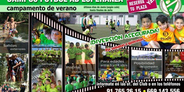 VIII Edición Campus de Fútbol de Verano A.D.Esperanza 2017