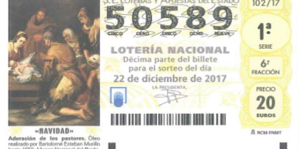 Número de la Lotería Nacional de la A.D.Esperanza: 50.589