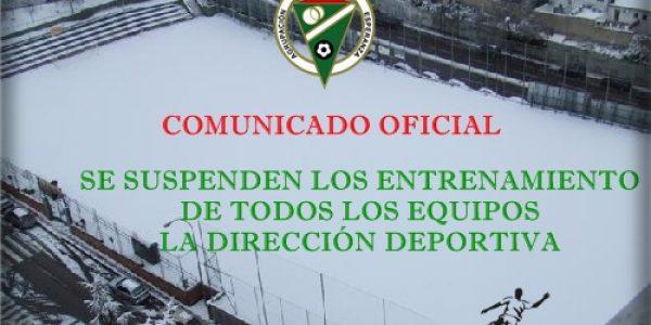 Comunicado Oficial – Suspendidos los Entrenamientos