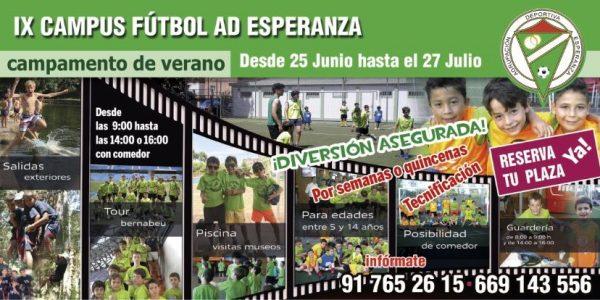 IX Edición Campus de Fútbol de Verano A.D.Esperanza 2018