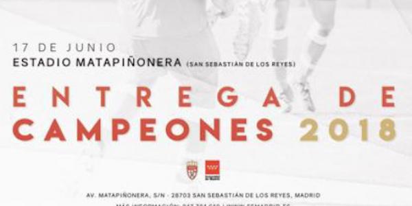 Los campeones de liga reciben este domingo sus trofeos en Matapiñonera