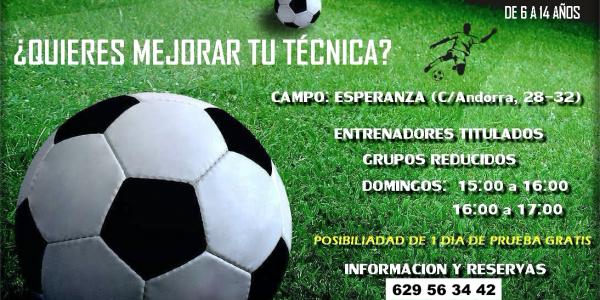 Clases de Tecnificación para futbolistas en la A.D.Esperanza
