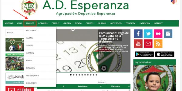 Comunicado: Mira la Clasificaciones, Calendario, Resultados…en la web del club
