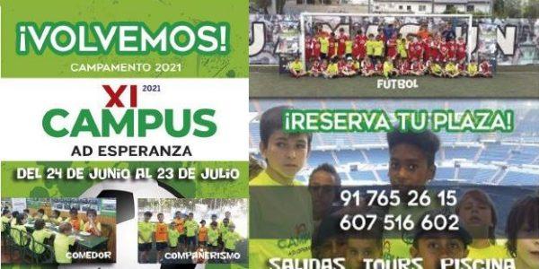 XI Edición Campus de Verano de Fútbol A.D. Esperanza 2021