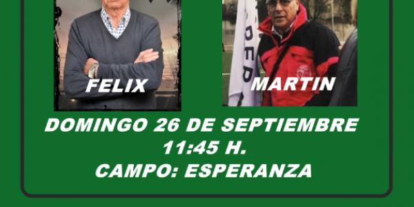 Homenaje a Felix Ocampos y Martín Moreno